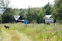At the entrance to Kuznechikha, Gorodetsky District.jpg