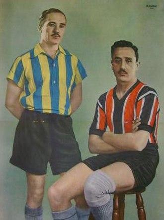 Club Atlético Atlanta - Santiago Carignano (Atlanta) and Francisco Santia (Chacarita), players that starred the derby of 1936.