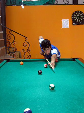 Sport in Iran - A billiard club in Nishapur