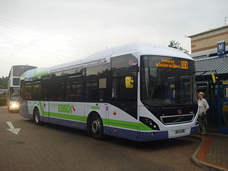 First Essex - Volvo 7900 hybrid at Lakeside Shopping Centre in September 2013
