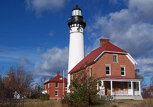 National Register of Historic Places listings in Alger County, Michigan - Image: Au Sable Light Station NPS