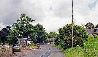 Auchenheath - Image: Auchenheath station site geograph 3242072 by Ben Brooksbank
