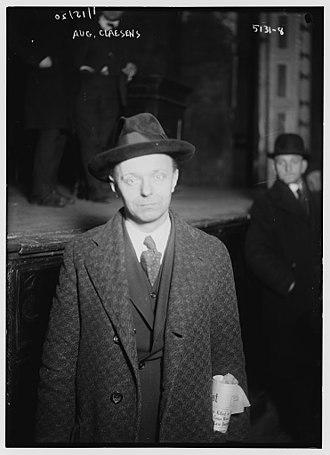 August Claessens - Claessens in 1920