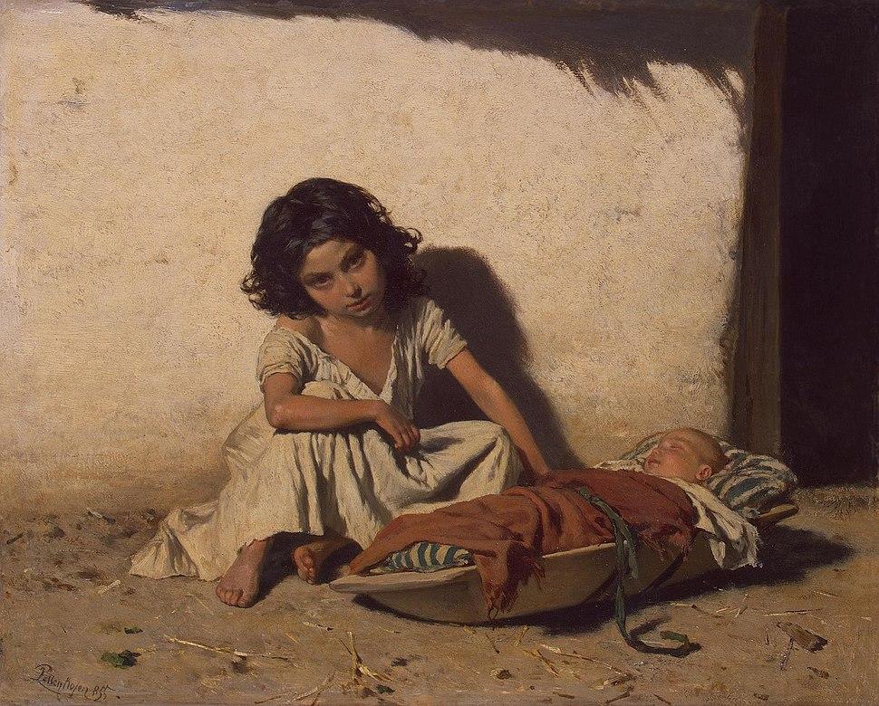 August von Pettenkofen - Gipsy Children - WGA17393