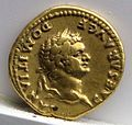 Aureo di vaspasiano per domiziano, 77-78 dc., roma 01.jpg