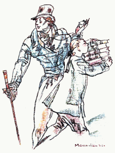 Austen Sanditon and other miscellanea - A young whitby running off with five volumes under his arm.png