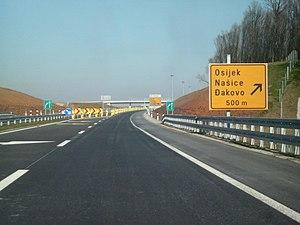 A5 (Croatia) - Provisional terminus near Đakovo, 2008