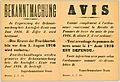 Avis. Comme complément a l'ordonance concernant la Récolte de Pommes de terre du mois de juin 1916 ... (12909200573).jpg