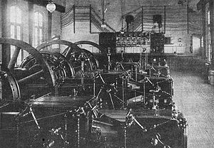 Rotary converter plant - AC to DC plant in Baltimore, Maryland, 1910