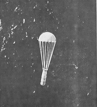 Operation Starvation - A sea mine being dropped from a B-29