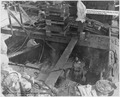 BB 39, 1138-43 Salvage- Gun Chamber of Turret ^2, partially unwatereed, looking aft - NARA - 296932.tif