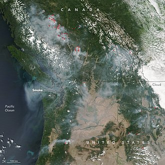 2017 British Columbia wildfires - Image: BC wildfires August 2, 2017
