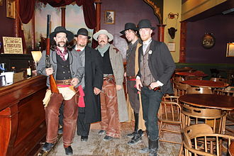 Long Branch Variety Show - Local actors portray gunfighters.