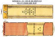 BL9.2inch60lbHalfChargeCorditeCartridgeMkIII