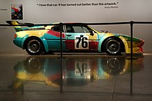 Von Andy Warhol 1979 gestalteter BMW M1