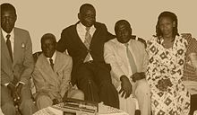 Hon. Esau Khamati Oriedo (second left) with family and friends at Nairobi circa 1971.