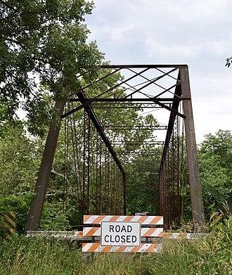 National Register of Historic Places listings in Fulton County, Illinois - Image: Babylon Bend Bridge