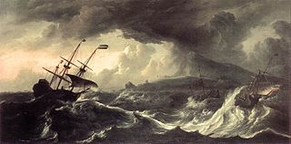 Ships in a Storm off the Norwegian Coast