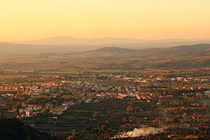 Gavorrano - The town of Bagno di Gavorrano at sunset.