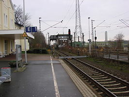 Perrons station Papenburg