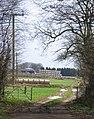 Bales and barns at The Grange Farm Exton - geograph.org.uk - 145832.jpg