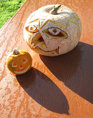 Jack-o'-lanterns at Hamptonne, Jersey, 2011