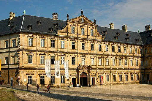 Neue Residenz am Domplatz in der Bergstadt (Altstadt Bamberg), Blick vom Dom her