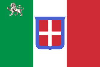 Flag of Italy - Image: Bandiera di Stato e della Marina Mercantile del Governo Provvisorio Toscano (da 29.11.1859 al 22.3.1860)