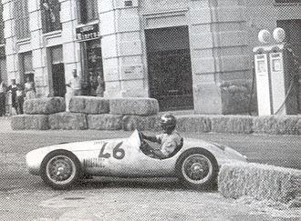 Bandini 750 sport siluro - Ilario Bandini part in a tender in the 750 class race