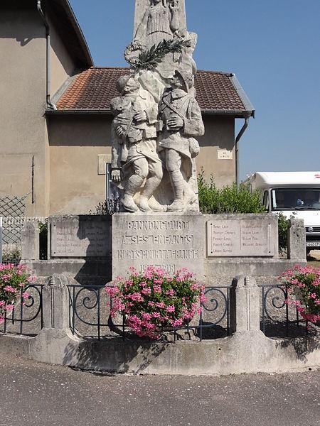 Bannoncourt (Meuse) monument aux morts