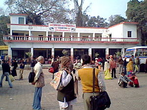 Barabanki, Uttar Pradesh - The Uttar Pradesh State Road Transport Corporation (UPSRTC) Bus Station at Barabanki