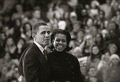 Michelle en Barack Obama