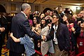 Barack Obama greets U.S. Embassy personnel in New Delhi, India.jpg