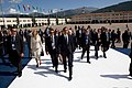 Barack Obama walks through the G-8 site in L'Aquila.jpg