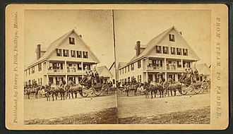 Phillips, Maine - Image: Barden House, Phillips, Maine, from Robert N. Dennis collection of stereoscopic views 2