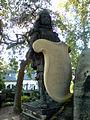 Baron Carl Otto Unico Ernst von Malortie Figur von Carl Dopmeyer, Figur und Grabtafel Herrenhäuser Friedhof Hannover Herrenhausen.jpg