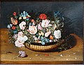 Basket of Flowers, by Osias Beert the Elder, c. 1615, oil on panel - Dallas Museum of Art - DSC05218.jpg