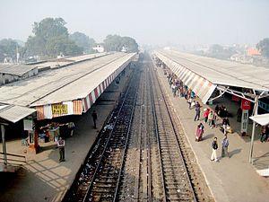 Basti district - Basti Railway platform
