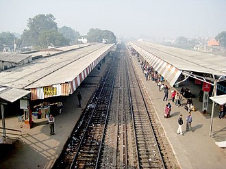 Basti district - Basti Railway platform