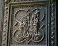 Battistero di firenze, porta sud di andrea pisano 07 predica ai farisei.JPG