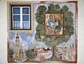 Baumkirchen, Wandbild auf der alten Volksschule.JPG