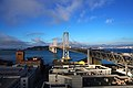 Bay Bridge view from Cal's apartment - Flickr - Matt Biddulph.jpg
