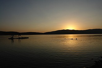 Bazaleti Lake - The Bazaleti Lake at the sunset