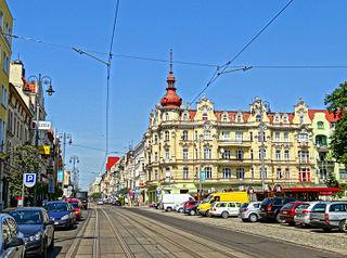 Gdańska Street in Bydgoszcz street in Bydgoszcz