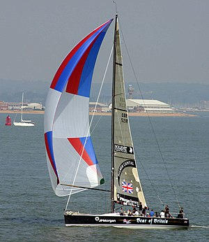 colorful nylon spinnaker, where strength and light weight are important.