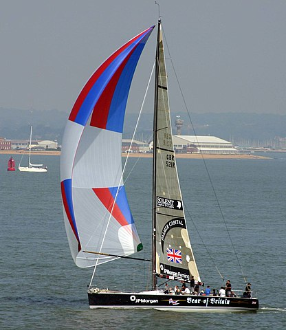 Spinnaker belling out front