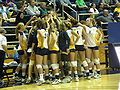 Bears at women's volleyball, SJSU at Cal 2009-09-12 2.JPG