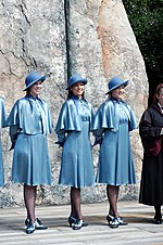 329cb6d4484 Treacy designed the Beauxbatons hats for Harry Potter in 2005
