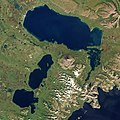 Becharof Lake with Ugashik Lakes by Sentinel-2.jpg