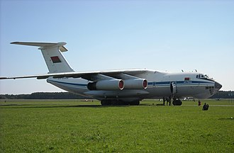 Belarusian Air Force - Ilyushin Il-76MD of the Belarusian Air Force on arrival day at Radom-Sadków AFB before Air Show 2009.